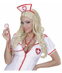 Rødt stetoskop