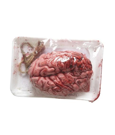 Blodig hjerne i bakke
