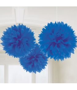 Papir pomponer blå