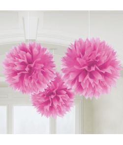 Papir pomponer pink