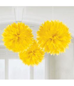Papir pomponer gul