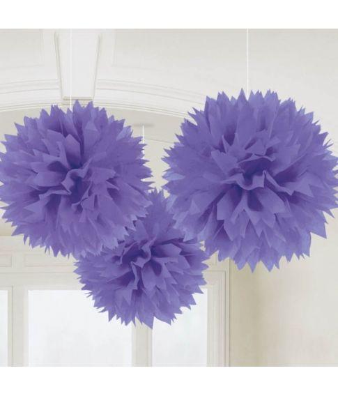 Papir pomponer lilla