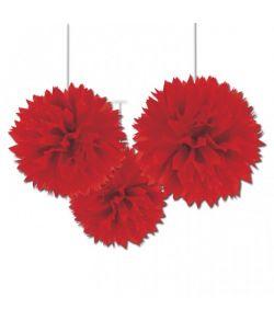 Papir pomponer rød