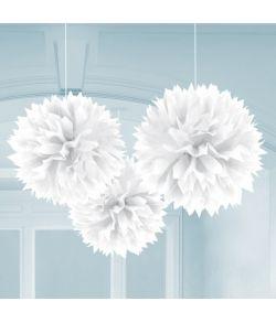 Papir pomponer hvid